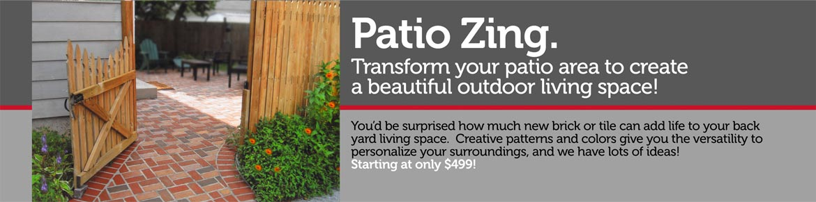 Patio Zing. Transform Your Patio Area To Create A Beautiful Outdoor Living  Space! Youu0027d Be Surprised How Much New Brick Or Tile Can Add Life To Your  Back ...